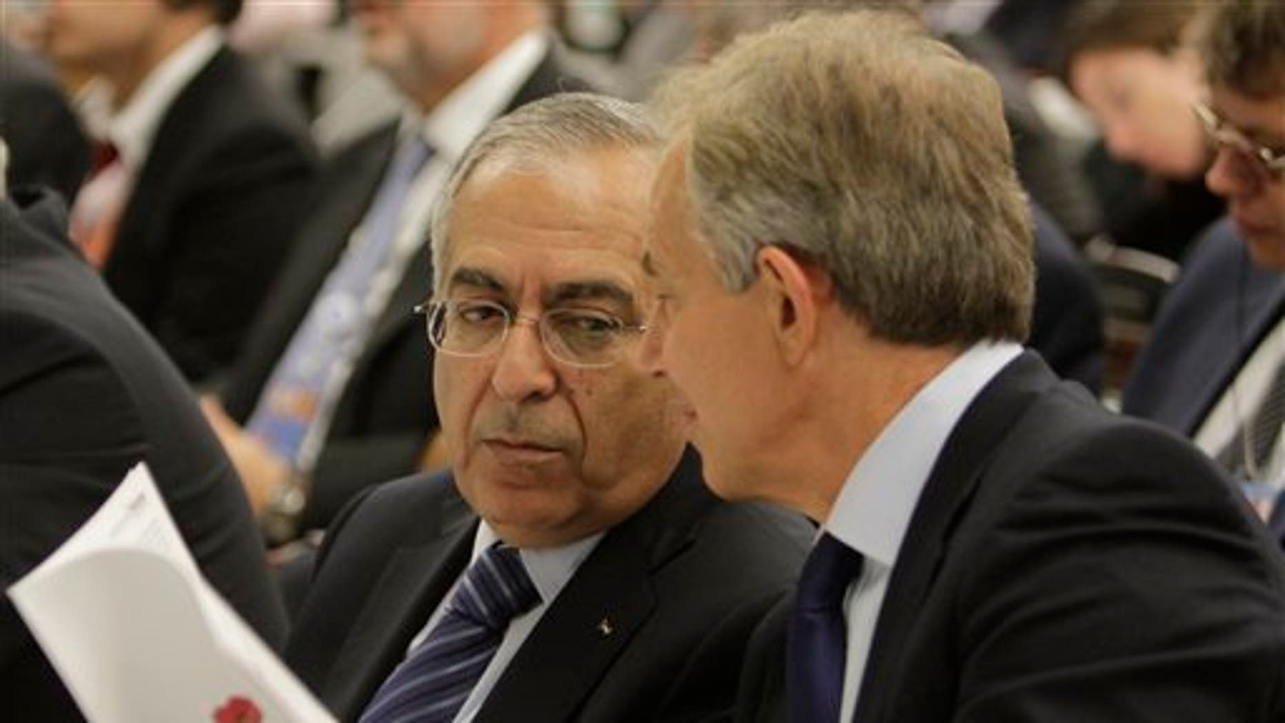 September 18: The Quartet Representative Tony Blair and Palestinian Prime Minister Salam Fayyad, participate in a meeting of the Ad Hoc Liaison Committee (AHLC), the donor support group for the Palestinians at United Nations headquarters.