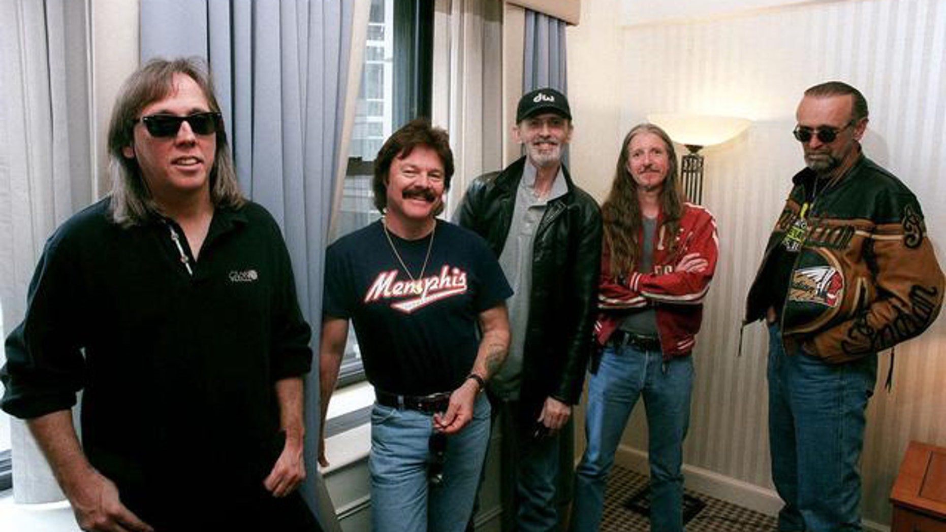 **FILE** The classic rock group The Doobie Brothers. L to R: ohn McFee, Tom Johnston, Keith Knudsen, Patrick Simmons and Michael Hossack.