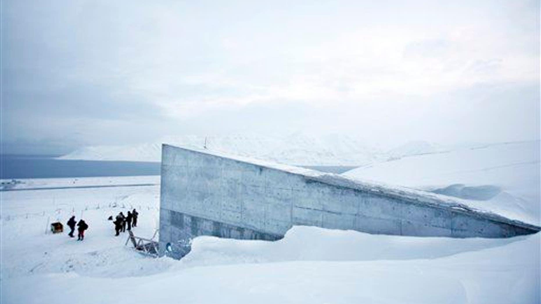 The Svalbard Global Seed Vault is seen Feb. 25, 2008 near Longyearbyen, Norway.