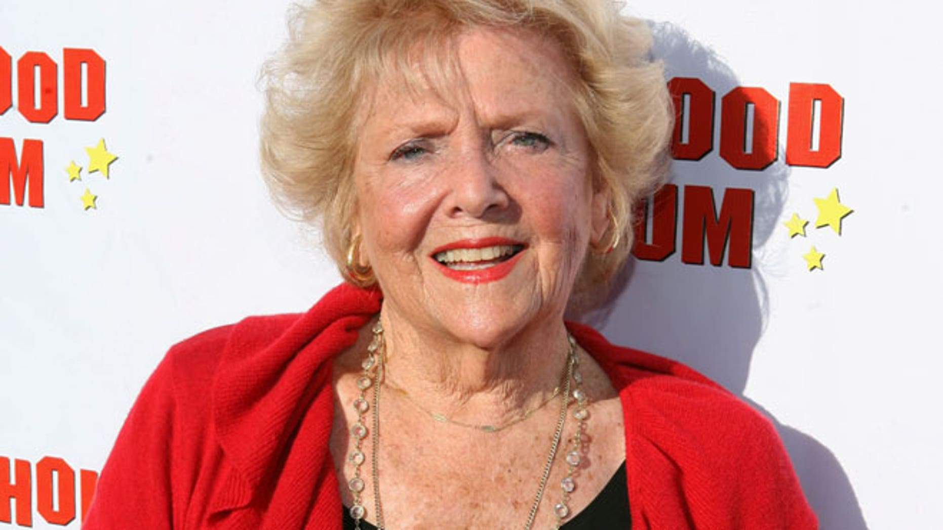 """This Aug. 4, 2011 file photo originally released by CBS DVD shows actress Doris Singleton arriving at the """"Lucille Ball At 100 & 'I Love Lucy' At 60"""" opening gala at The Hollywood Museum in Los Angeles."""
