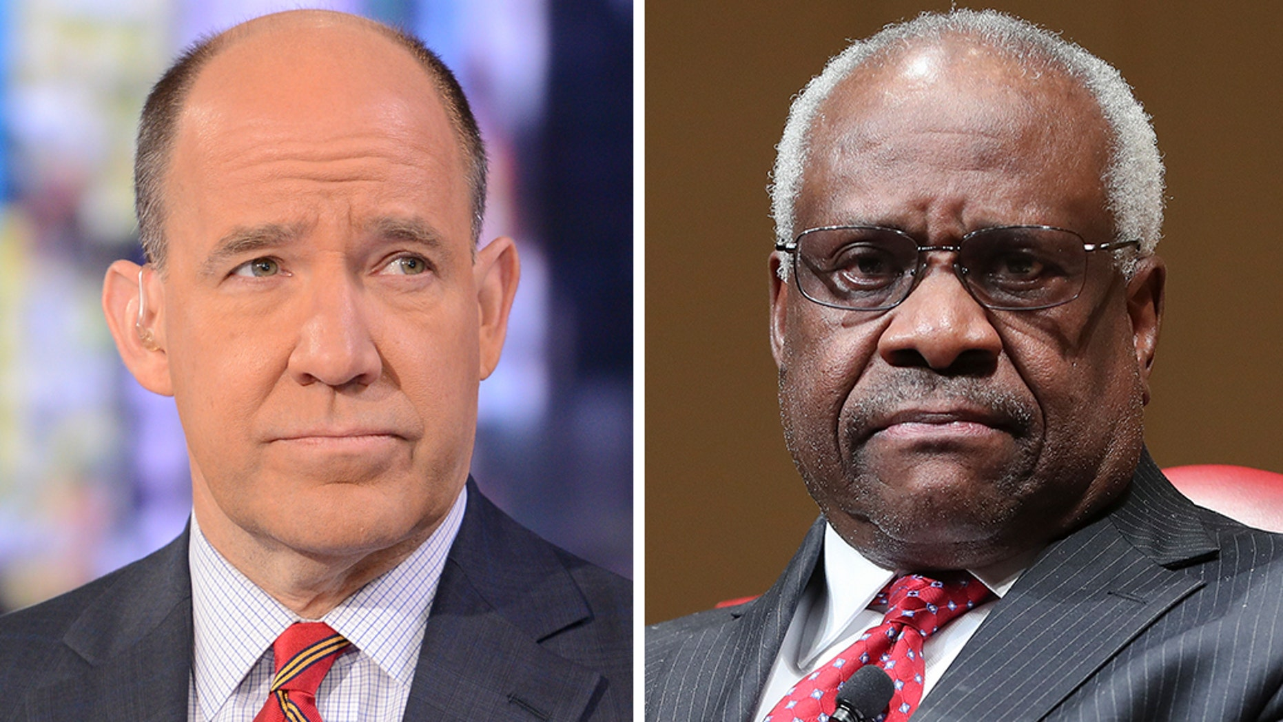 """Supreme Court Justice Clarence Thomas, right, was called a """"sexual predator"""" by ABC News chief political analyst Matthew Dowd."""