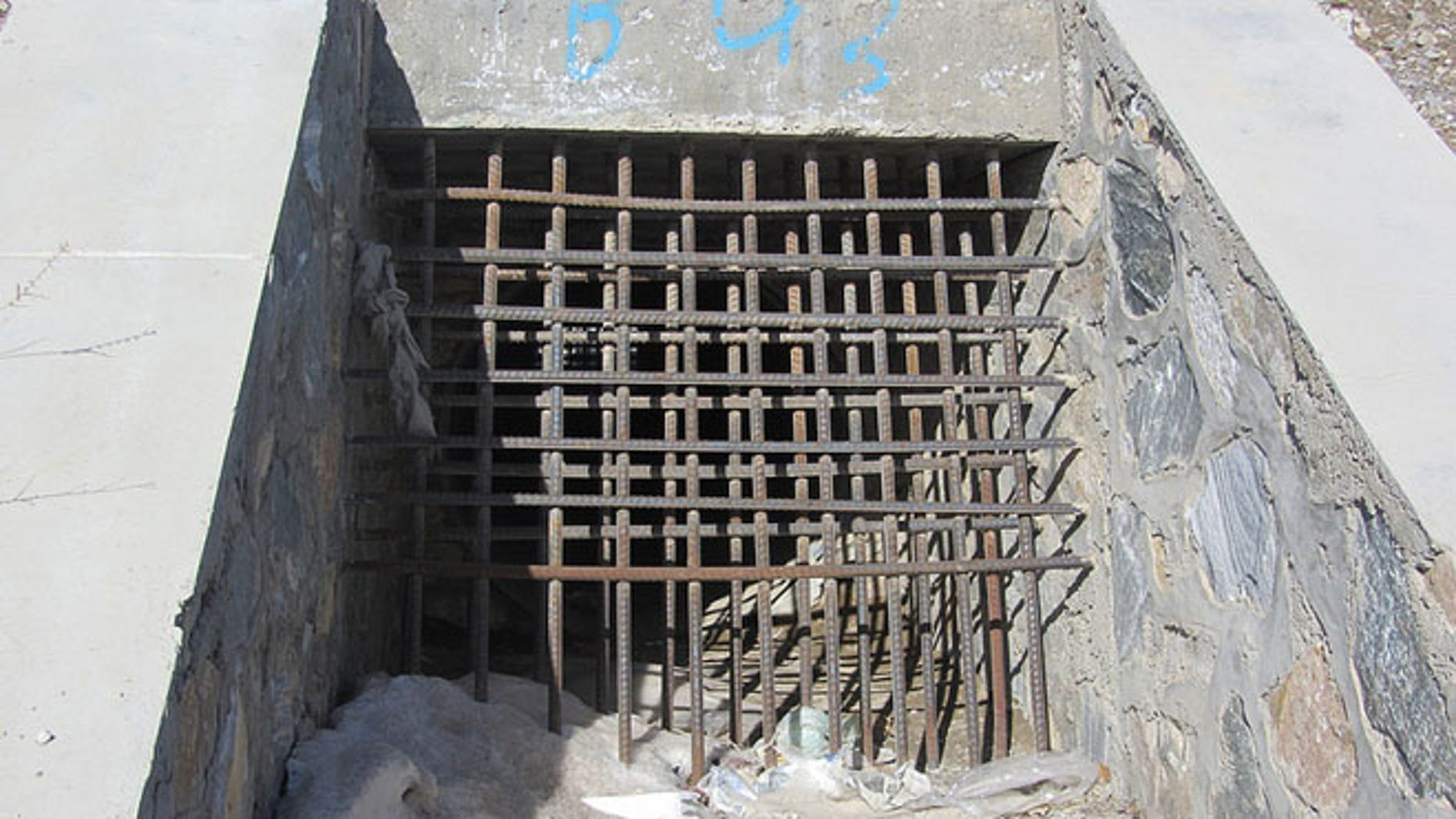 Shown here is a 'culvert denial system'  -- a drainage grate meant to help prevent bomb attacks.