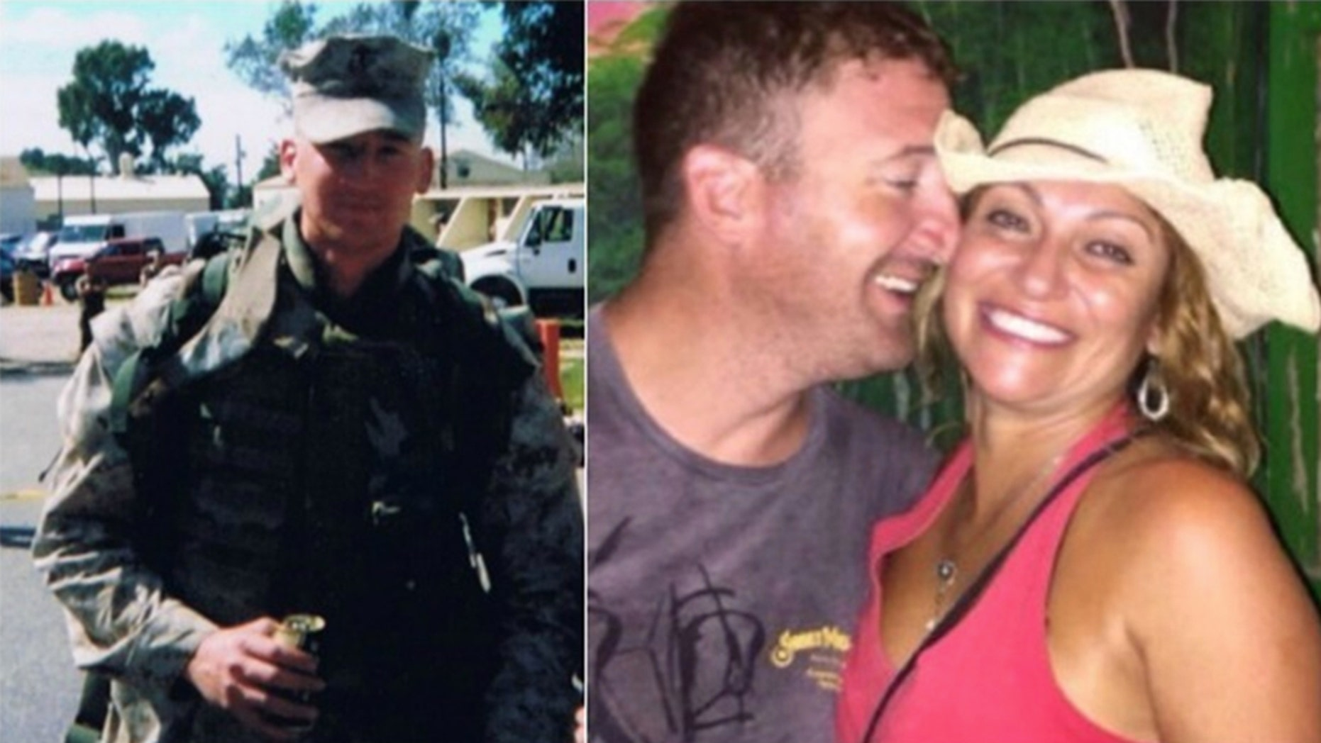 The bodies of Drew DeVoursney, 36, a U.S. Marine veteran from Georgia, and his Canadian girlfriend, Francesca Matus, 52, were found in Belize a year ago. Their murders remain unsolved. (Fox5 Atlanta / Facebook)