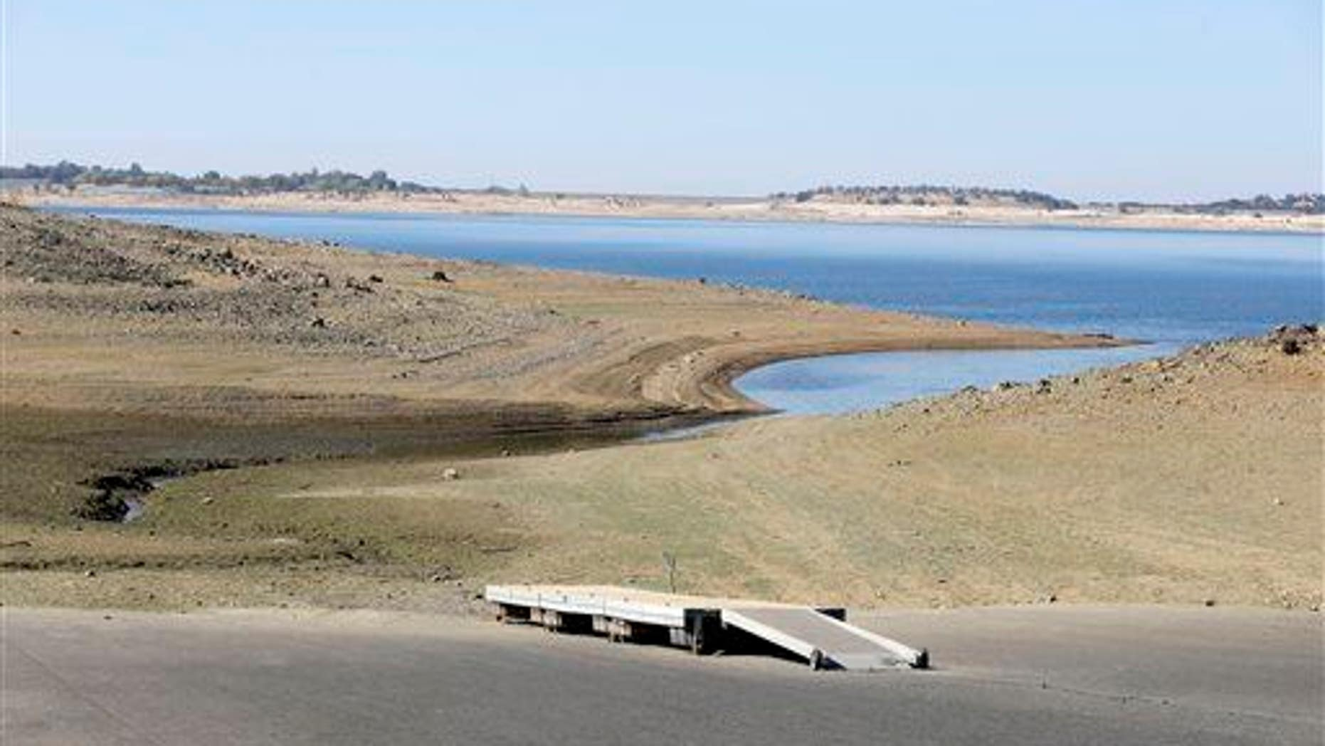 This October 2014 photo shows the impact of California's ongoing drought on Folsom Lake. In the year since, things have only gotten worse.