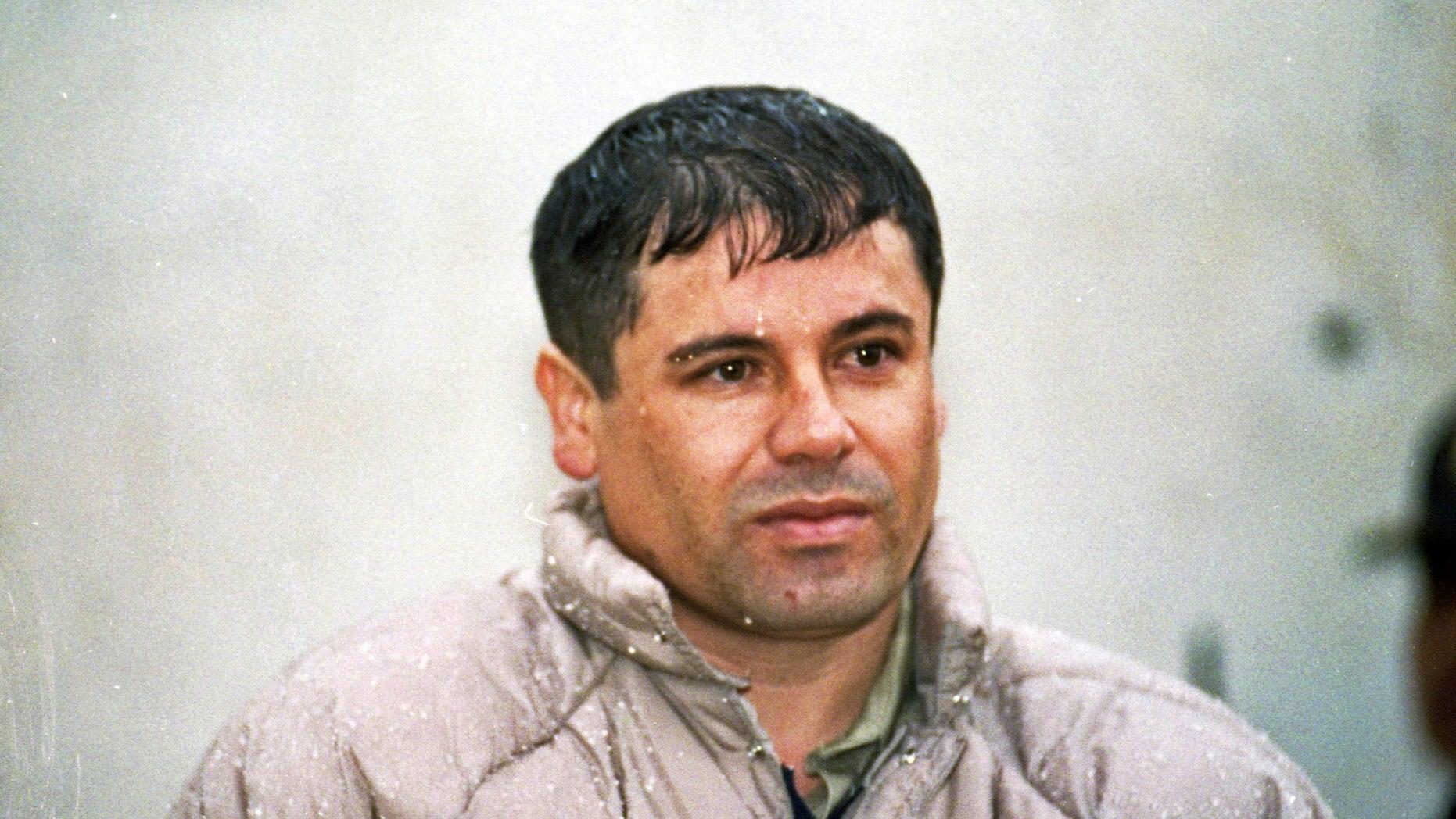 Joaquín 'El Chapo' Guzmán, leader of Mexico's Sinaloa cartel, in a June 10, 1993 file photo.