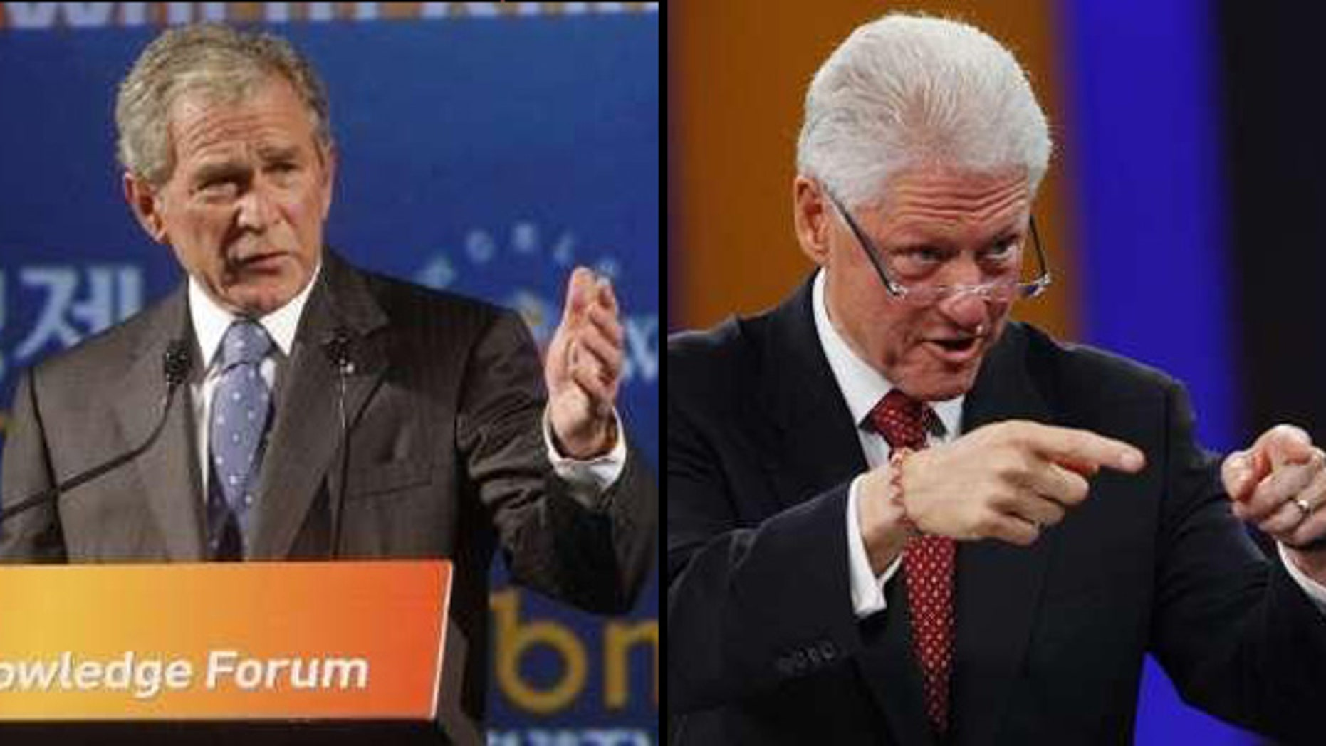 "An event promoted as a ""debate"" between George W. Bush and Bill Clinton in New York City this February has been canceled, after both former presidents objected to the way the forum was hyped. (Reuters)"