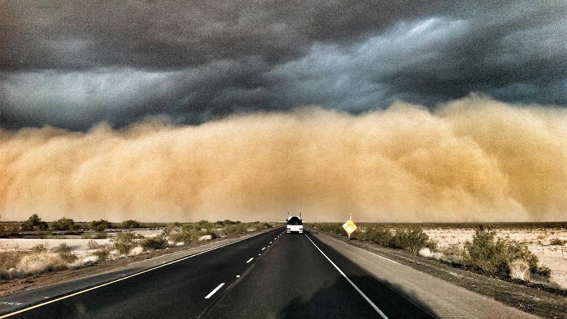 April 9, 2012: A huge dust storm hits Arizona.