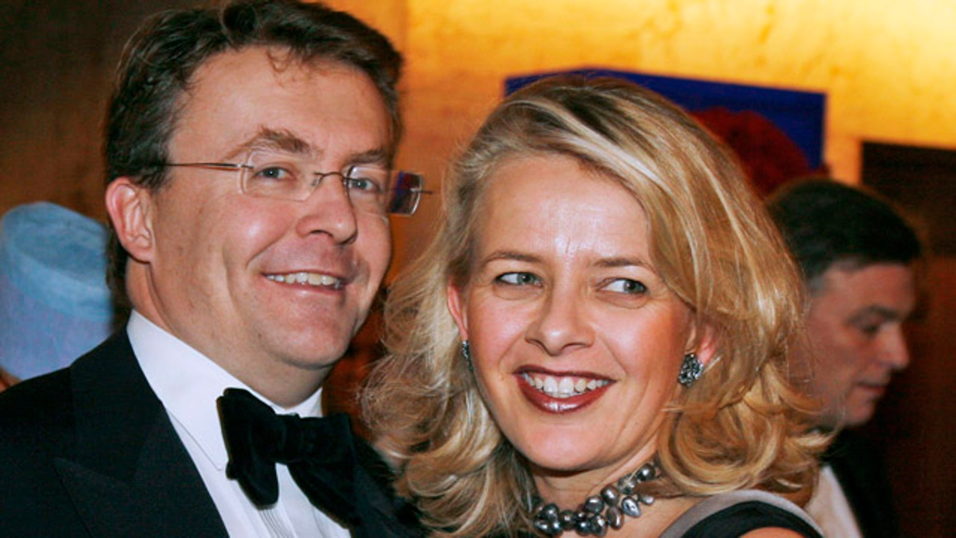 Dec. 2008 FILE: Dutch Prince Johan Friso, left, and his wife Mabel, as they arrive for a gala dinner in honor of Nobel Peace Prize laureate Martti Ahtisaari, former President of Finland.