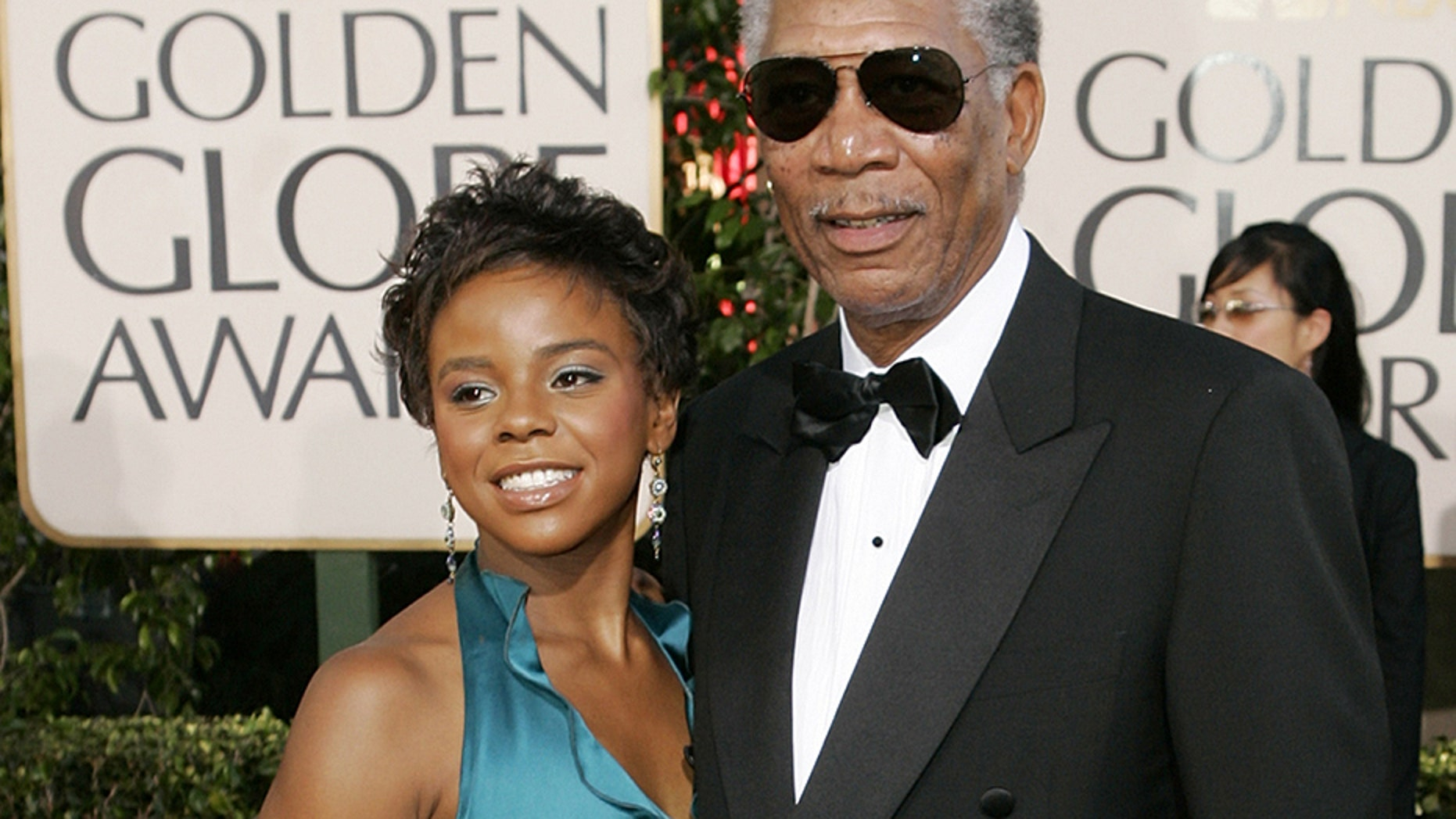 """E'Dena Hines' [left] boyfriend, who is accused of killing her, said in court that the woman and her step-grandfather, Morgan Freeman, had an """"inappropriate sexual relationship."""""""