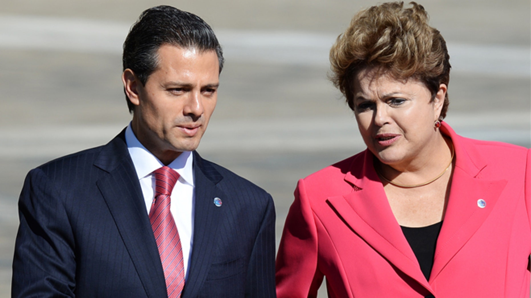 President of Mexico Enrique Peña Nieto and President of Brazil, Dilma Rousseff  during the G20 summit on September 6, 2013 in St. Petersburg, Russia.