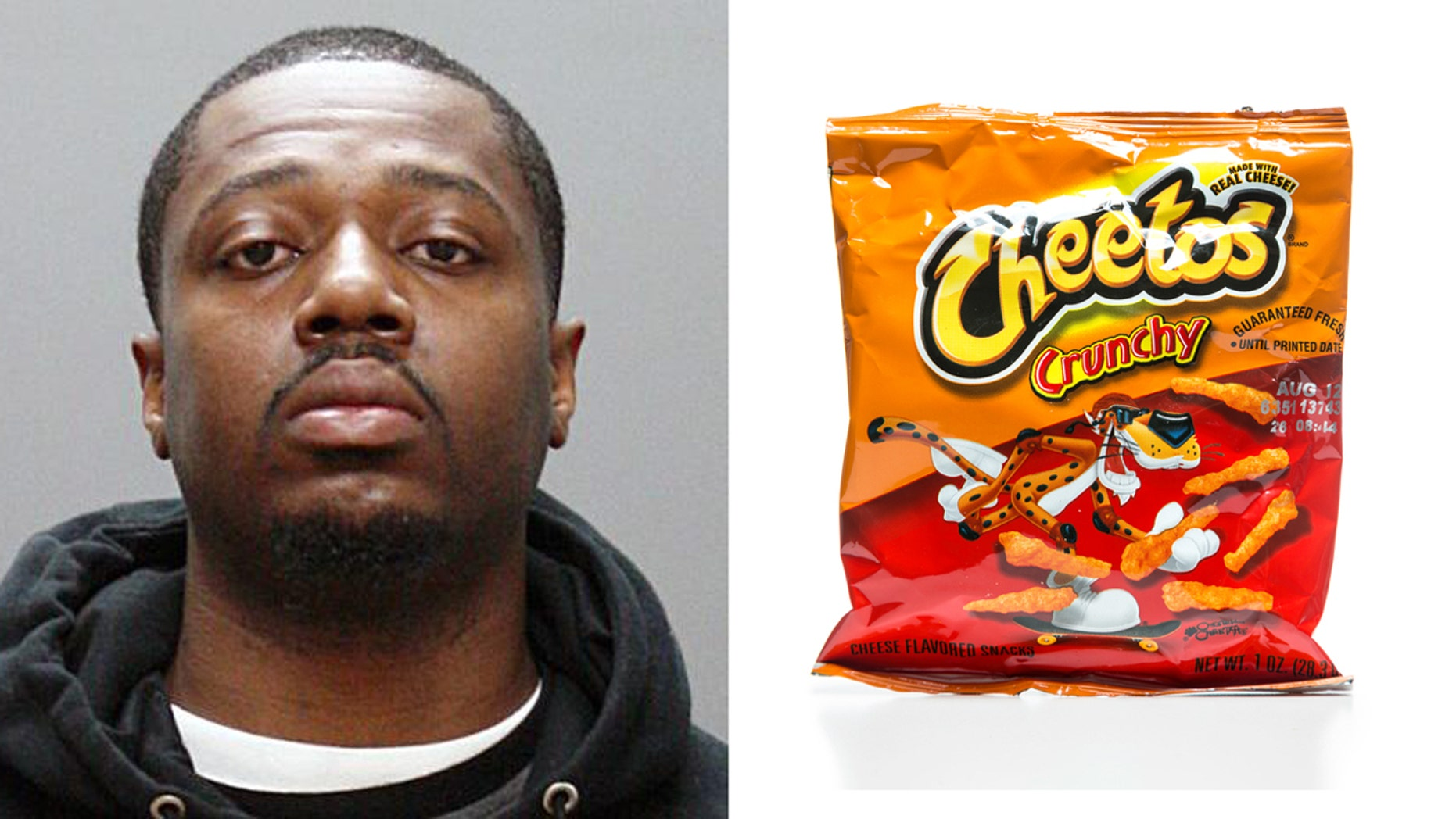 Shemroy Williams on Taunton, Mass. was found guilty of attempting to burn down his fiancee's house while she was inside.  Investigators determined he attempted to use Cheetos to accelerate the fire.