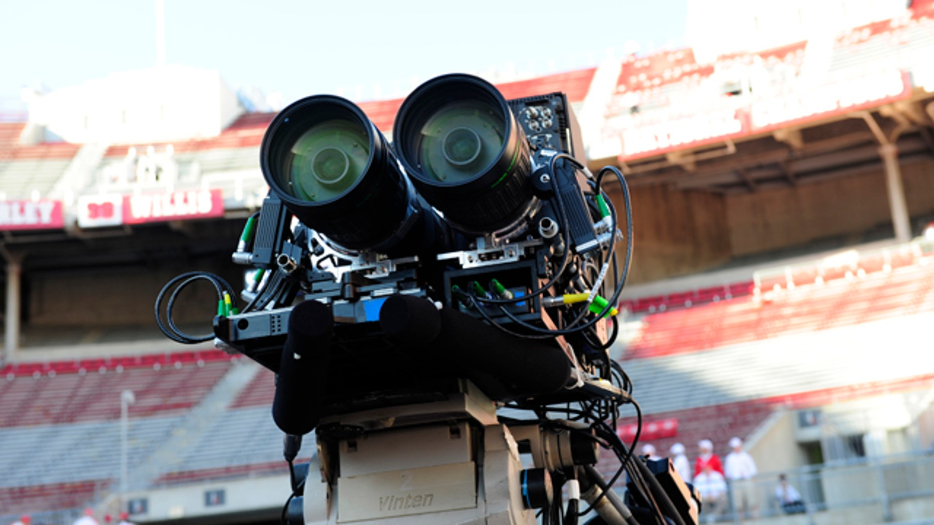 ESPN tests out 3D cameras on Sept. 12, 2009 in Ohio Stadium, Columbus, Ohio