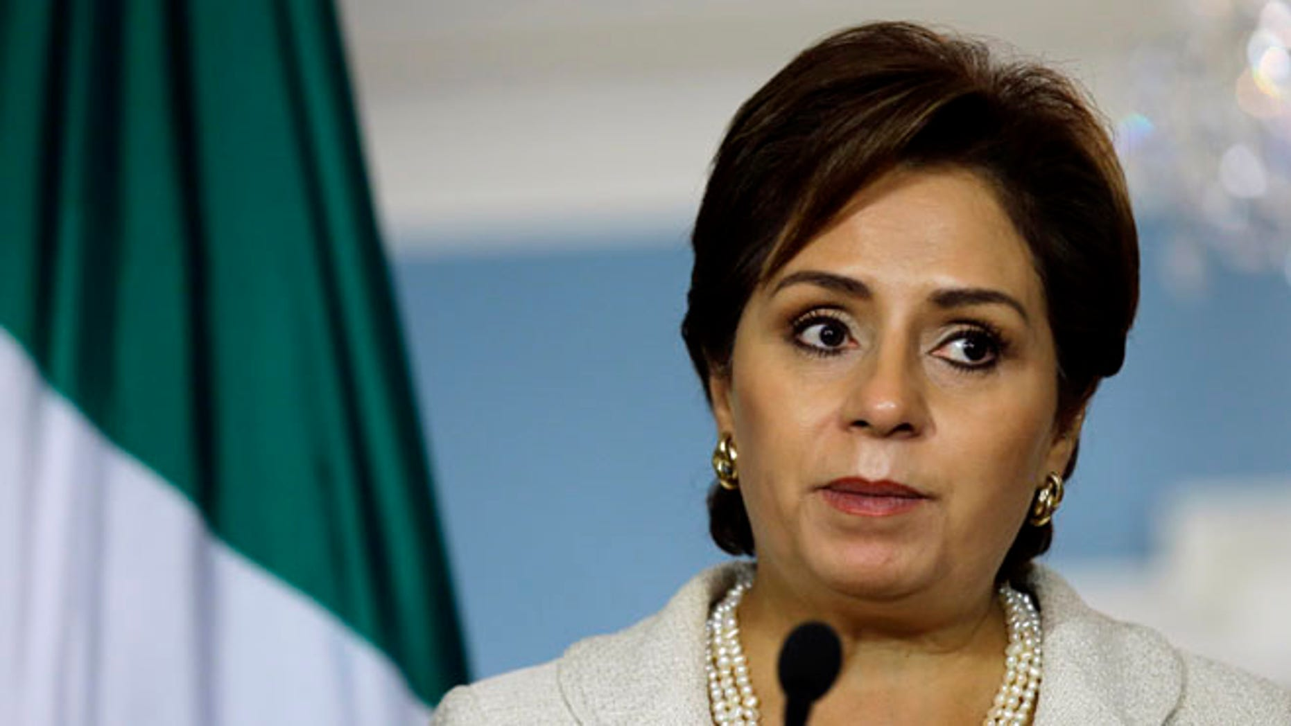 Mexican Foreign Minister Patricia Espinosa in a 2012 file photo.