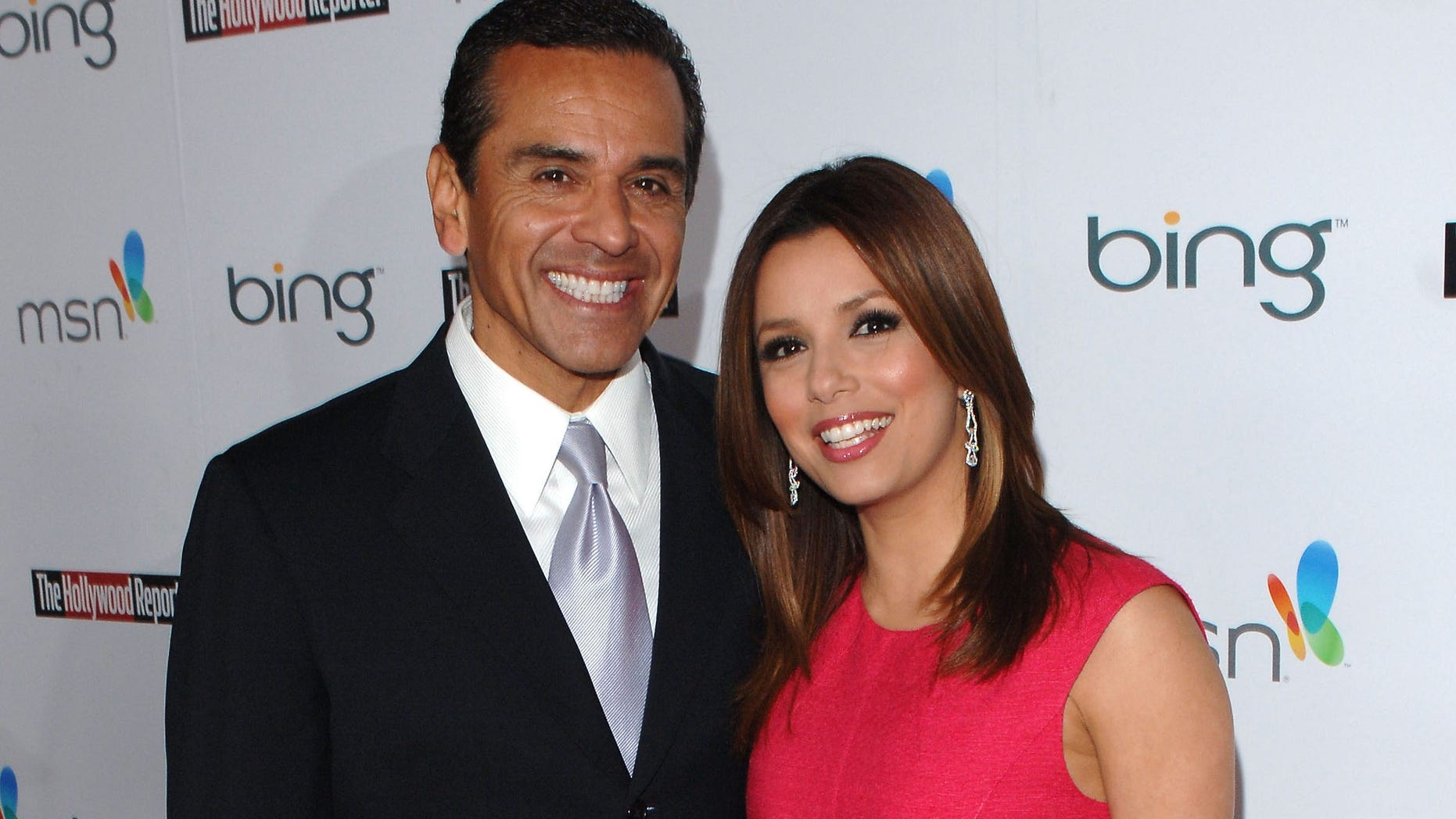LOS ANGELES, CA - MARCH 04:  Mayor Antonio Villaraigosa (L) and actress Eva Longoria Parker attend The Hollywood Reporter's Nominees' Night Prelude to Oscar presented by Bing and MSN at the Mayor's Residence on Thursday, March 4, 2010 in Los Angeles, California.  (Photo by Craig Barritt/Getty Images)