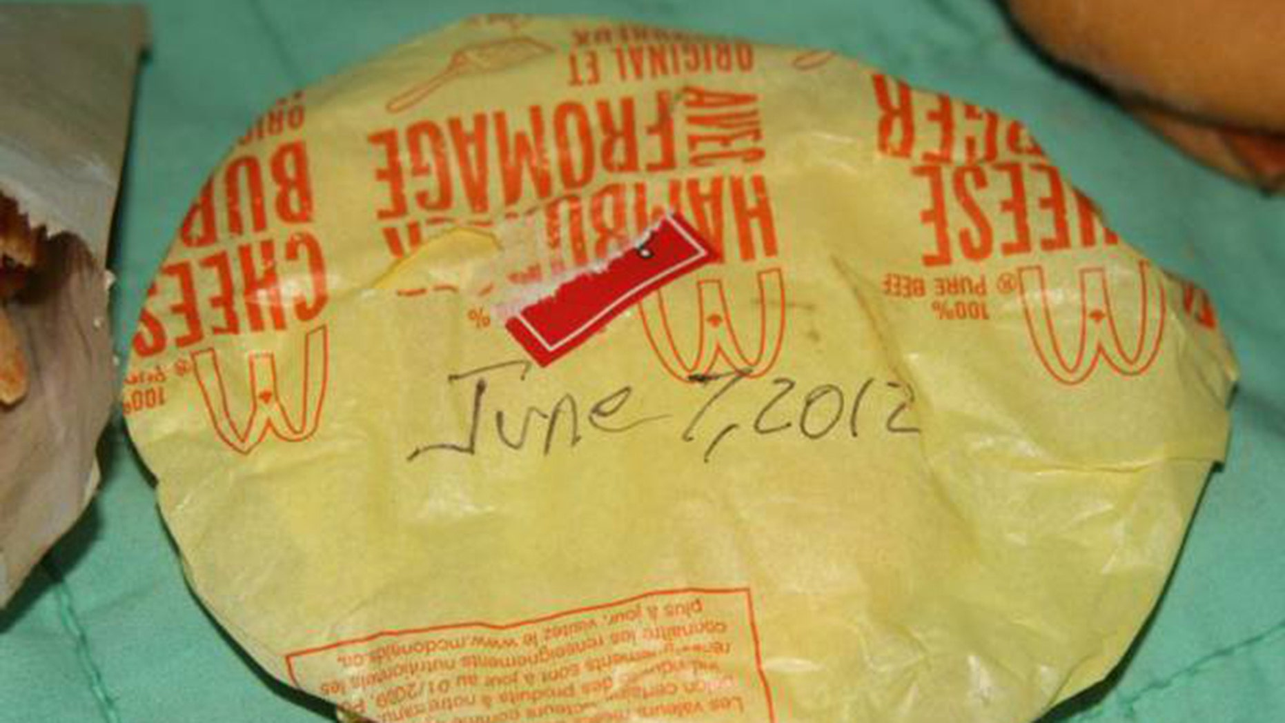 eBay pulls 6-year-old McDonald's cheeseburger and fries from