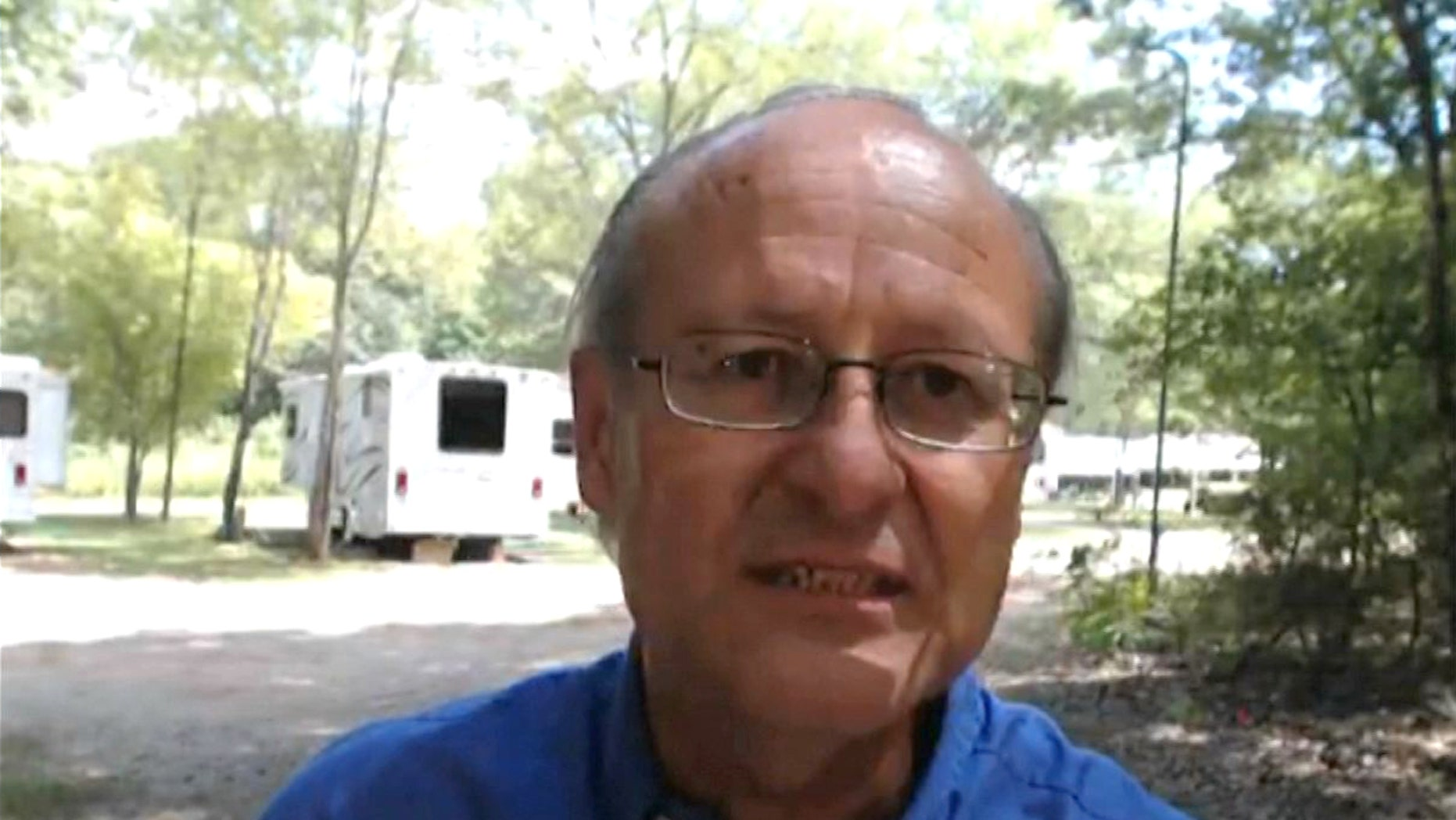 This frame grab image from video shows David Writebol interviewed in Charlotte, N.C., Wednesday, Aug. 13, 2014.(AP Photo)