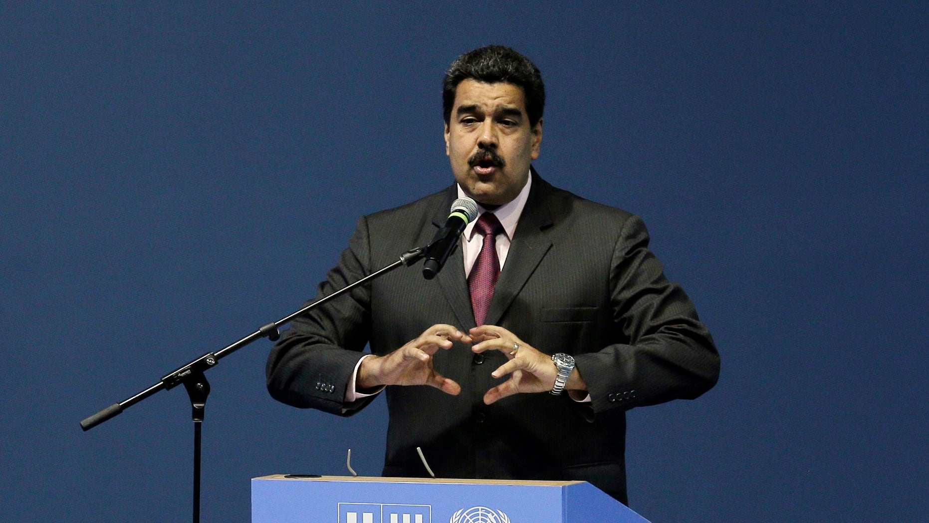 President Maduro during the opening of the United Nations Habitat Conference, in Quito, Ecuador, Oct. 17, 2016.