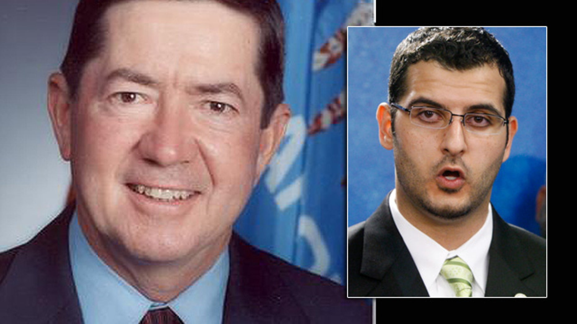 Oklahoma Attorney General Drew Edmondson, left, is accused of failing to respond to a lawsuit filed by Muslim rights activist Muneer Awad seeking to block the state's voter-approved law banning Islamic law in state courts.