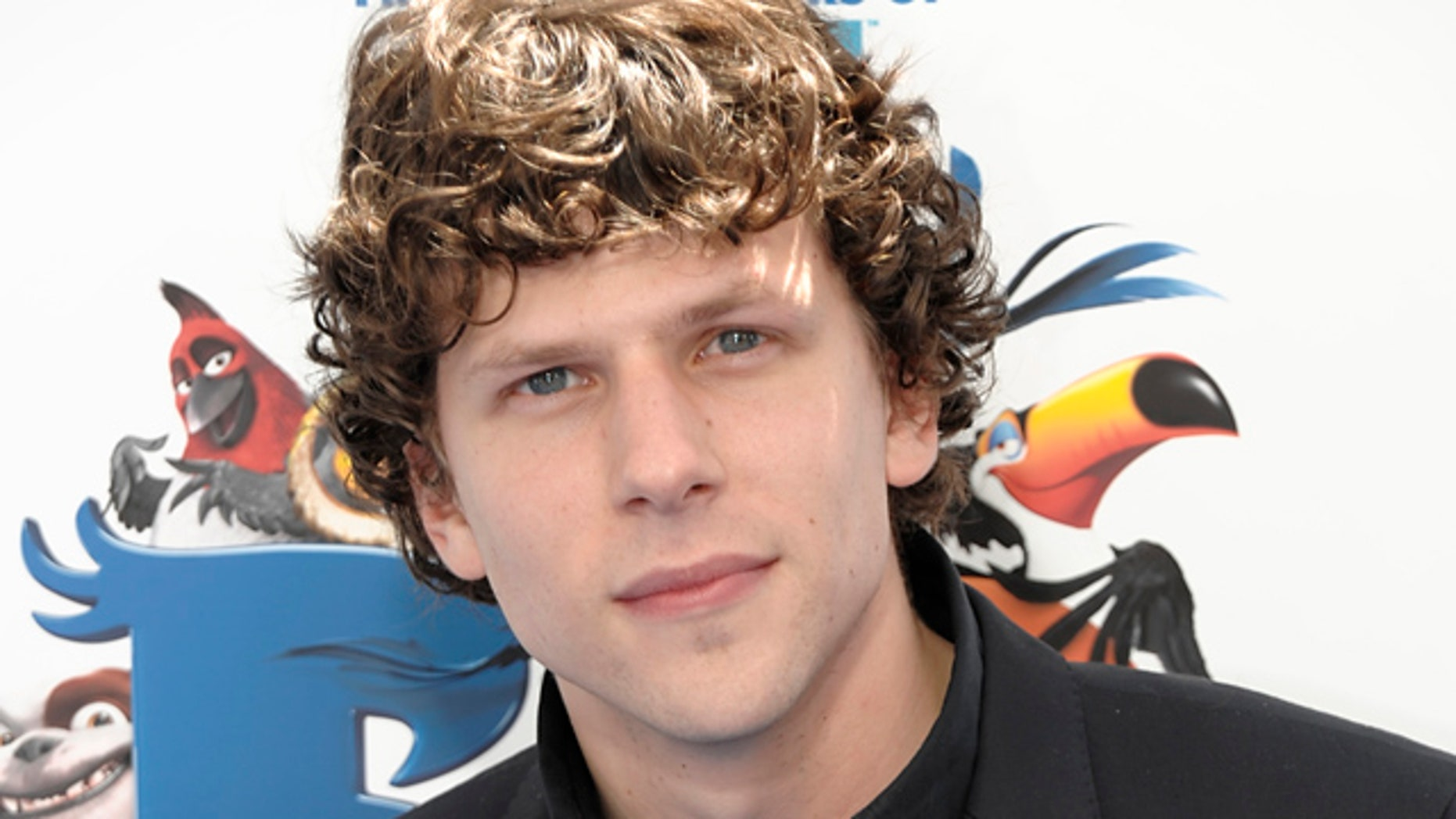 """April 10, 2011: Actor Jesse Eisenberg arrives at the premiere of the animated feature film """"RIO"""" in Los Angeles."""