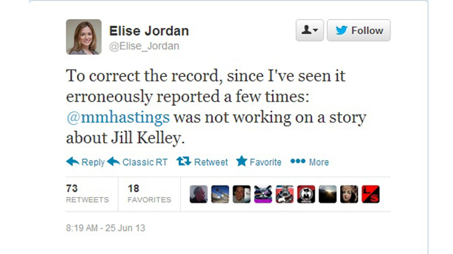 Michael Hastings wife, Elise Jordan sent out this message on Twitter on Tuesday in an attempt to dispel some of the rumors surrounding his death.