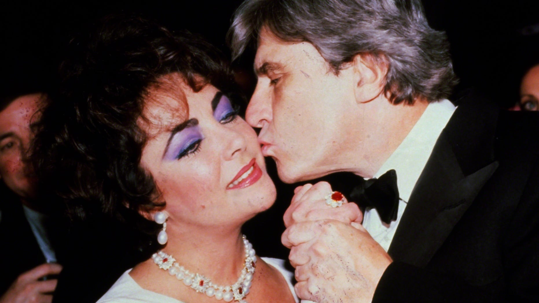 Elizabeth Taylor and Senator John Warner