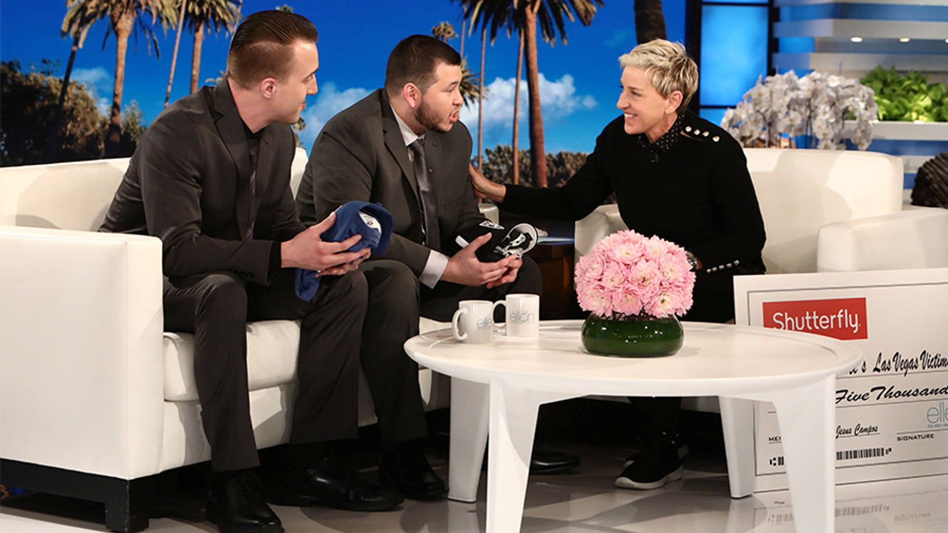 Mandalay Bay security guard Jesus Campos and engineer Stephen Schuck spoke to 'The Ellen DeGeneres Show' in an interview that aired Wednesday.