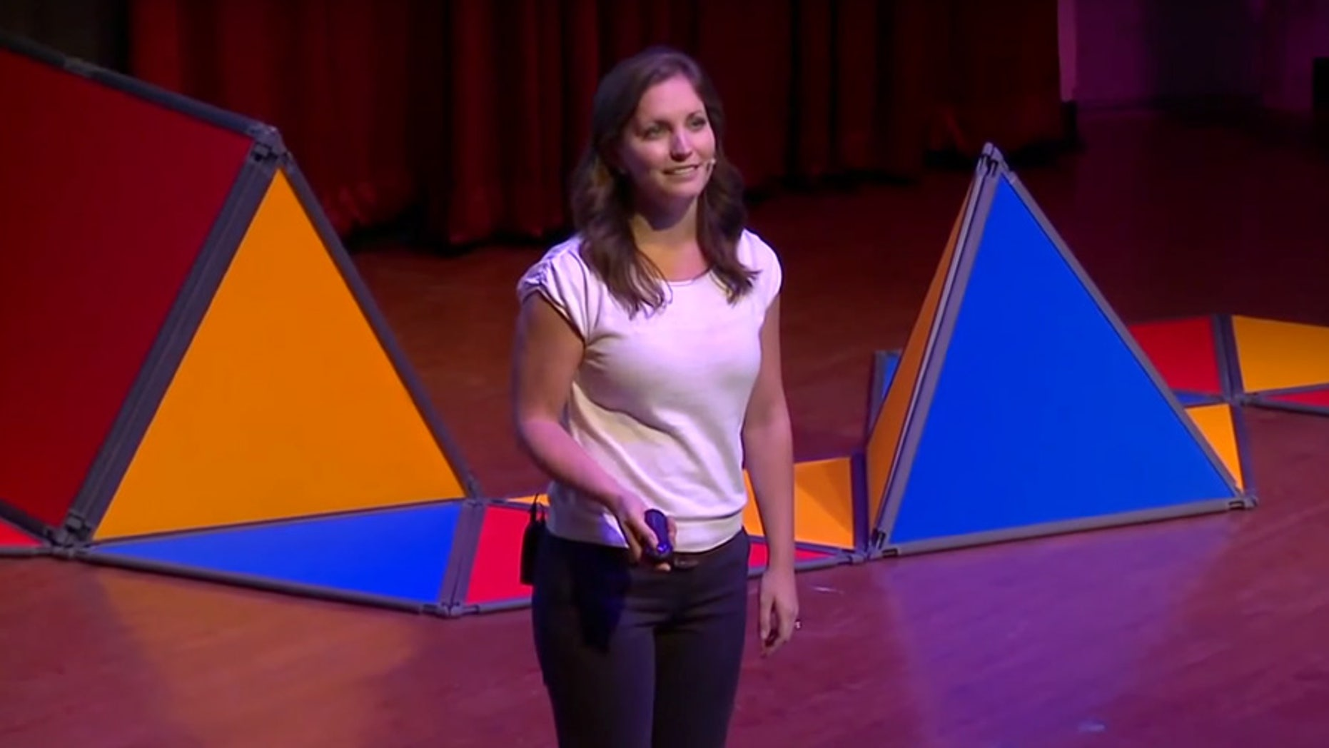 Emily Lindin addresses a TedxYouth event in Toronto in 2013.