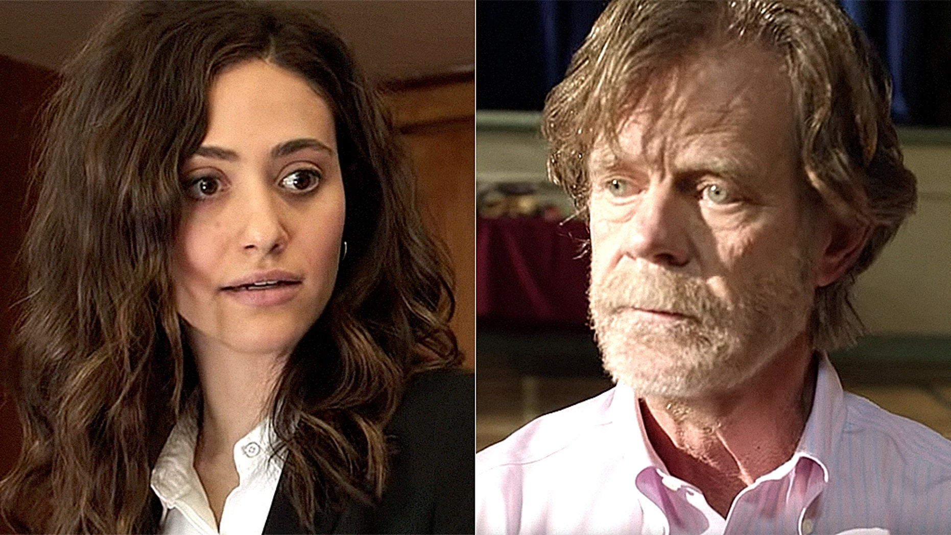 """Shameless"" actors Emmy Rossum, left, and William H. Macy, right."