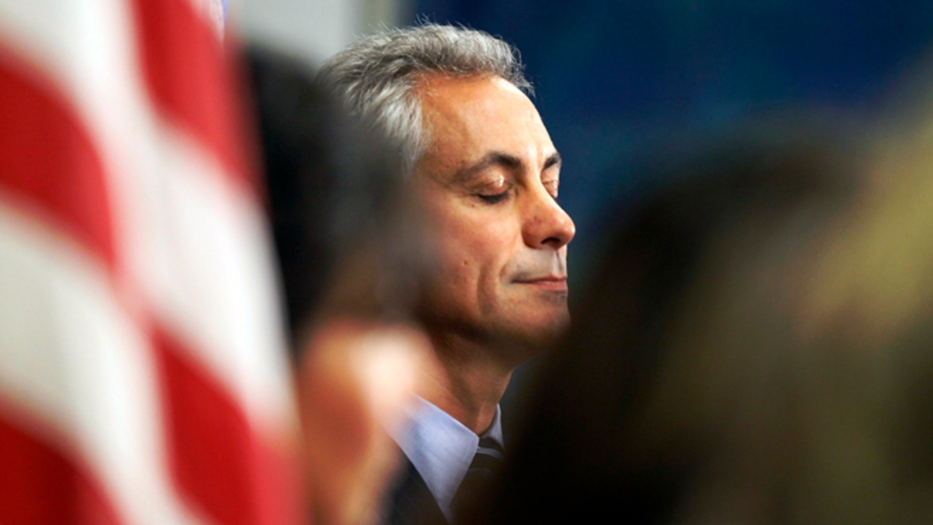 Sept. 18: Chicago Mayor Rahm Emanuel closes his eyes during a news conference after the Chicago Teacher's Union House of Delegates voted to suspend their strike against the school system in Chicago.