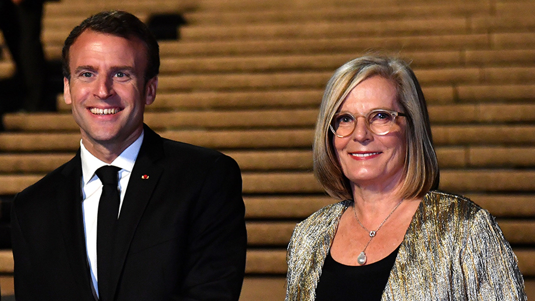 "French President Emmanuel Macron made headlines and raised eyebrows in Sydney on Wednesday by calling Lucy Turnbull, the Australian prime minister's wife, ""delicious."" (Reuters)"