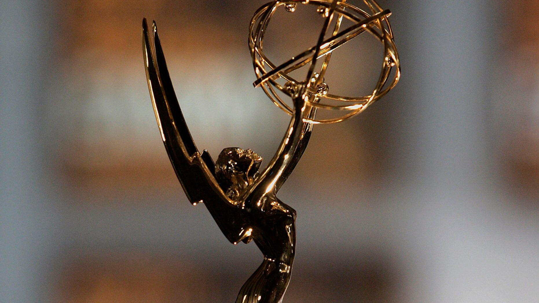 A close up of the Emmy Awards statuette in North Hollywood, California.  (Photo by Vince Bucci/Getty Images)