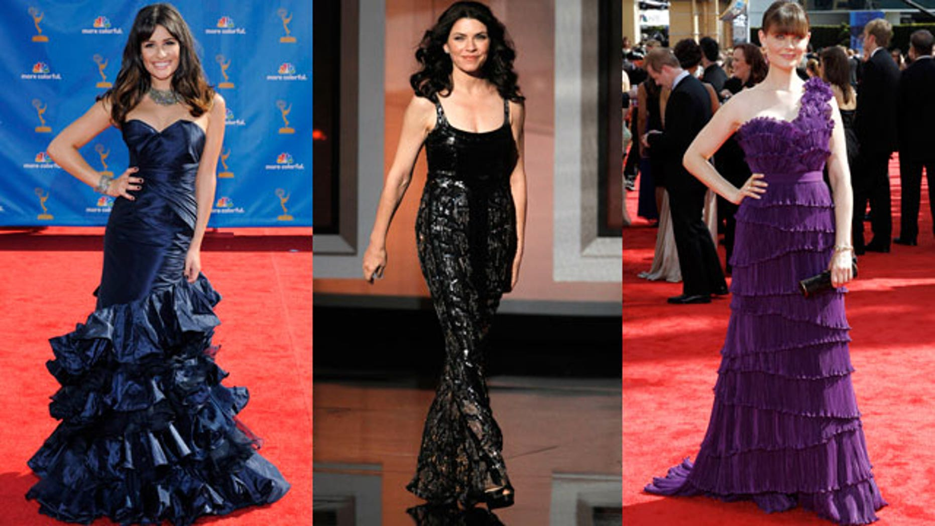 Lea Michele, Julianna Marguiles and Emily Deschanel wore some of the top trends on the Emmy's red carpet.