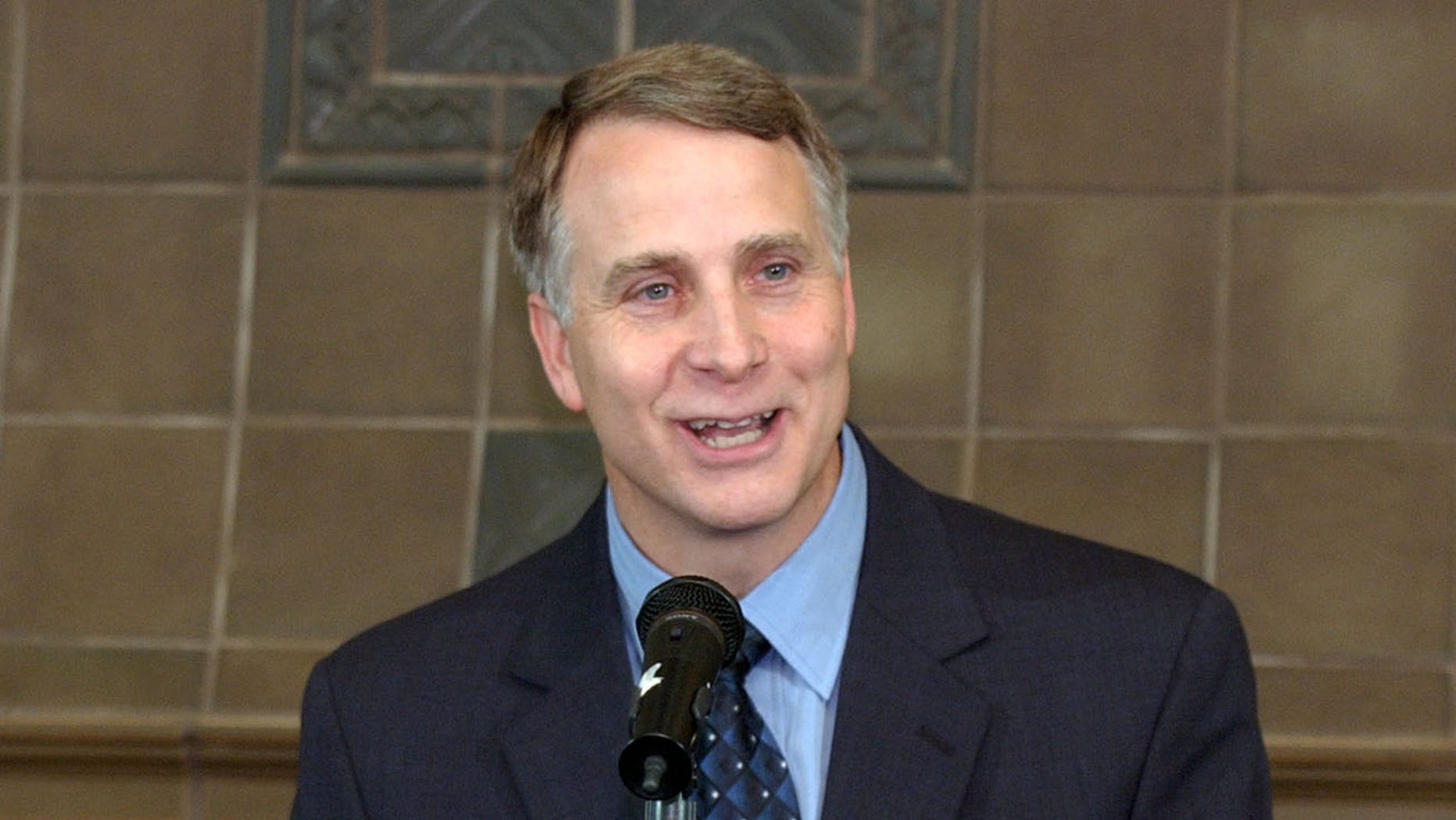 July 30, 2003: In this  file photo, Emory University president James W. Wagner speaks during a press conference at the Emory Conference Center Hotel in Atlanta, Ga.