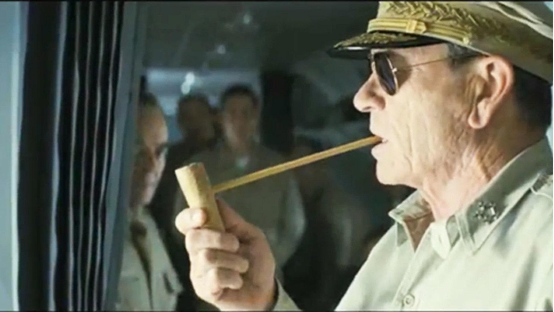 """Tommy Lee Jones is shown in the film """"Emperor."""""""