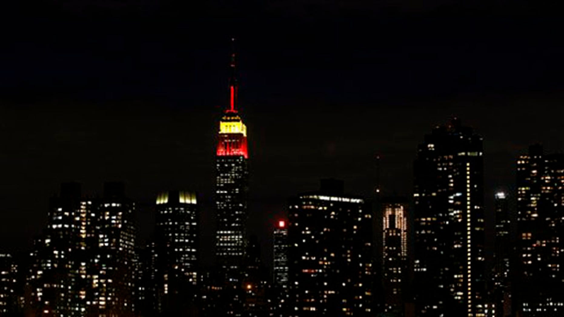 Sept. 30, 2009: The Empire State Building in New York is lit in red and yellow to honor the 60th anniversary of the communist revolution in China. Catholics are criticizing the owners of the landmark skyscraper for declining to illuminate it in honor of the late Mother Teresa, who would have turned 100 on Aug. 26, 2010.