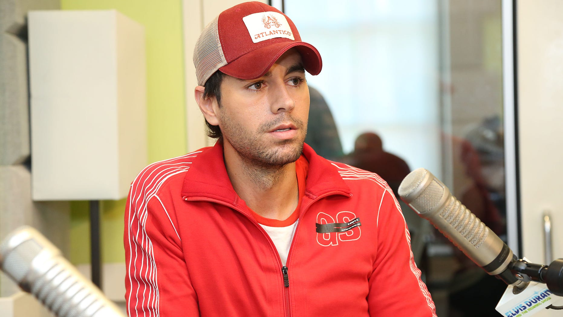 """Enrique Iglesias visits """"The Elvis Duran Z100 Morning Show"""" at Z100 Studio on July 18, 2013 in New York City."""