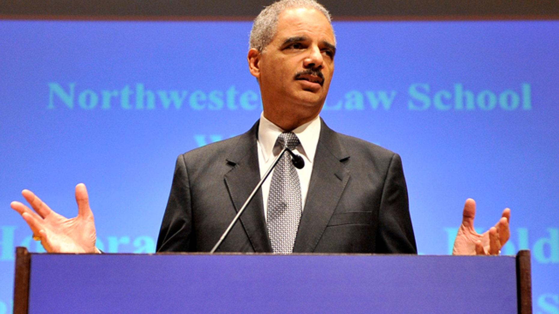 March 5, 2012: Attorney General Eric Holder speaks at the Northwestern University law school.