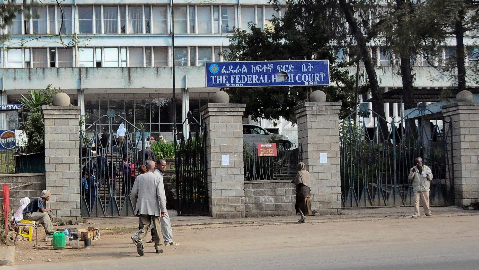 Nov. 1, 2011: Pedestrians walk past the Federal High Court building in Addis Ababa, Ethiopia.