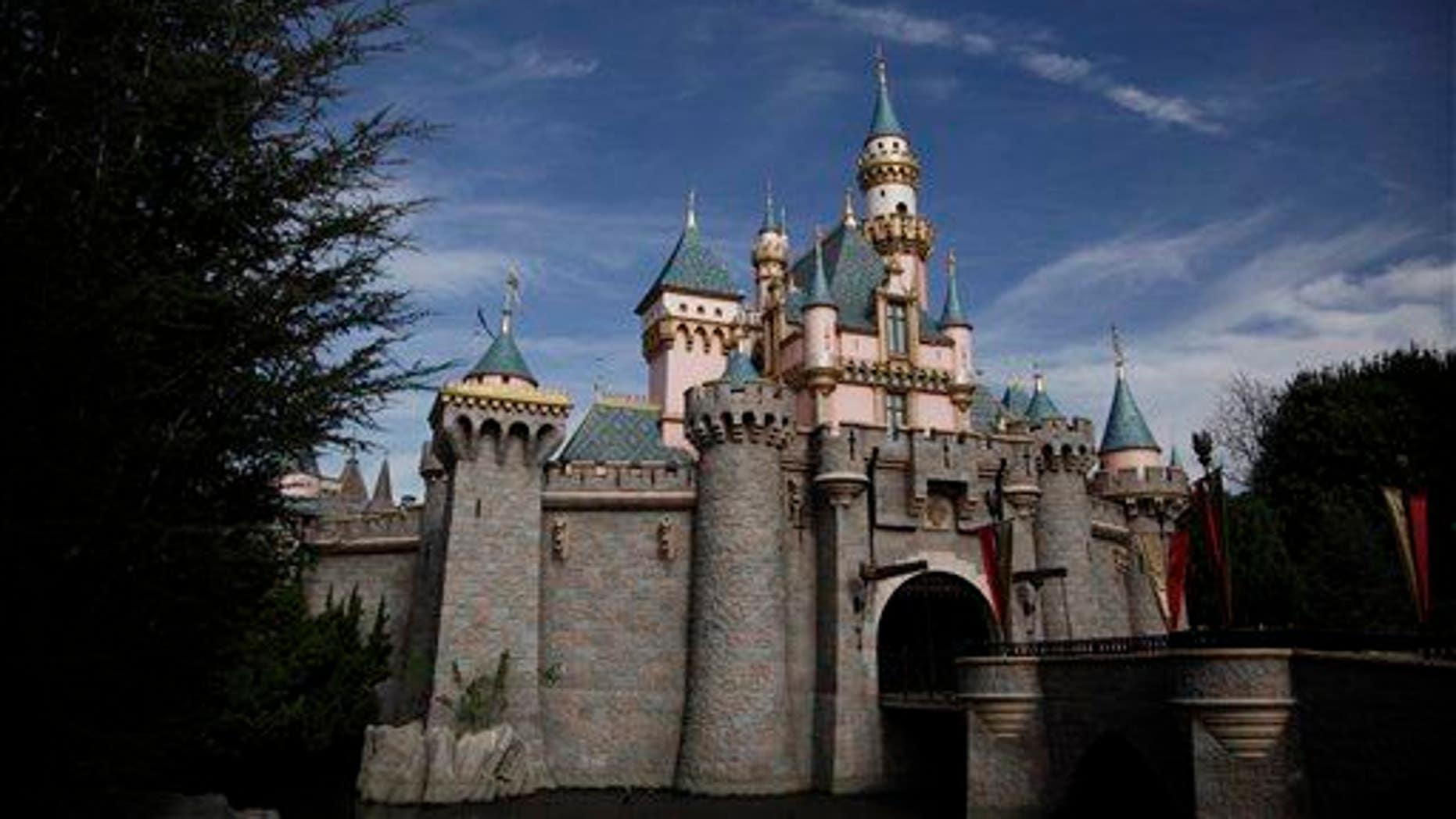 Sleeping Beauty's Castle is seen at Disneyland, in Anaheim, Calif.