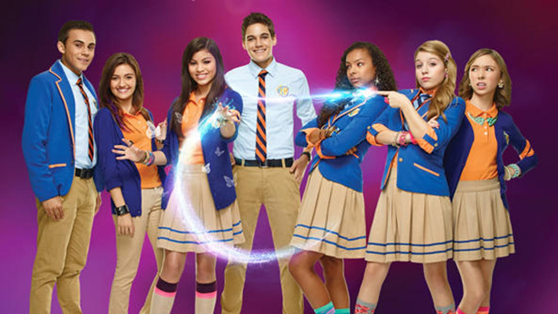 "The cast of Nickelodeon's ""Every Witch Way."""