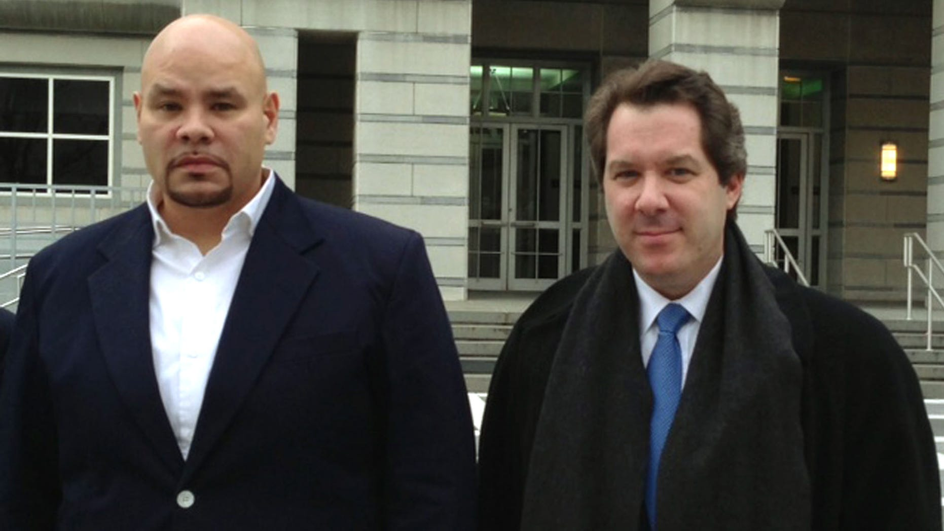 Dec. 20, 2012: Fat Joe, whose real name is Joseph Cartagena, leaves court with his attorney Jeffrey Lichtman in Newark N.J.