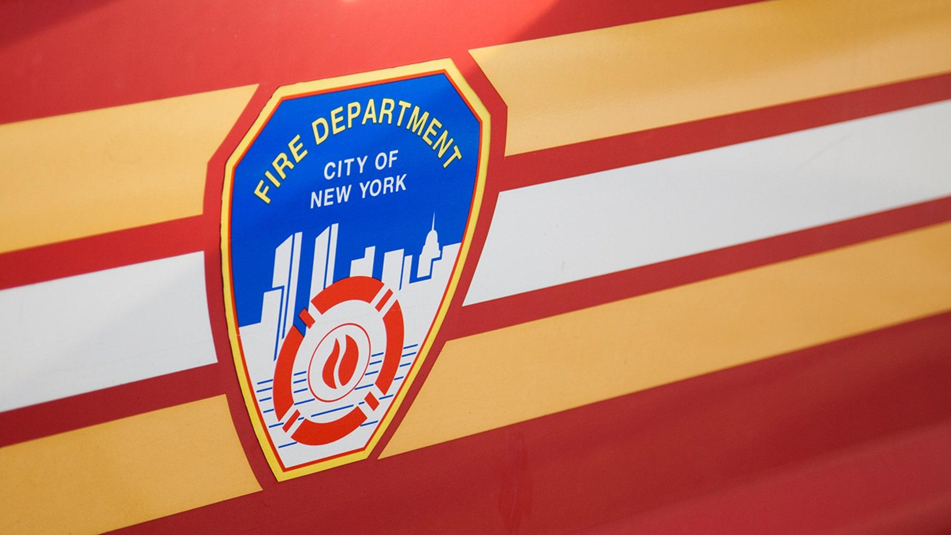 New York City, USA - September 2, 2014: Fire department New York emblem