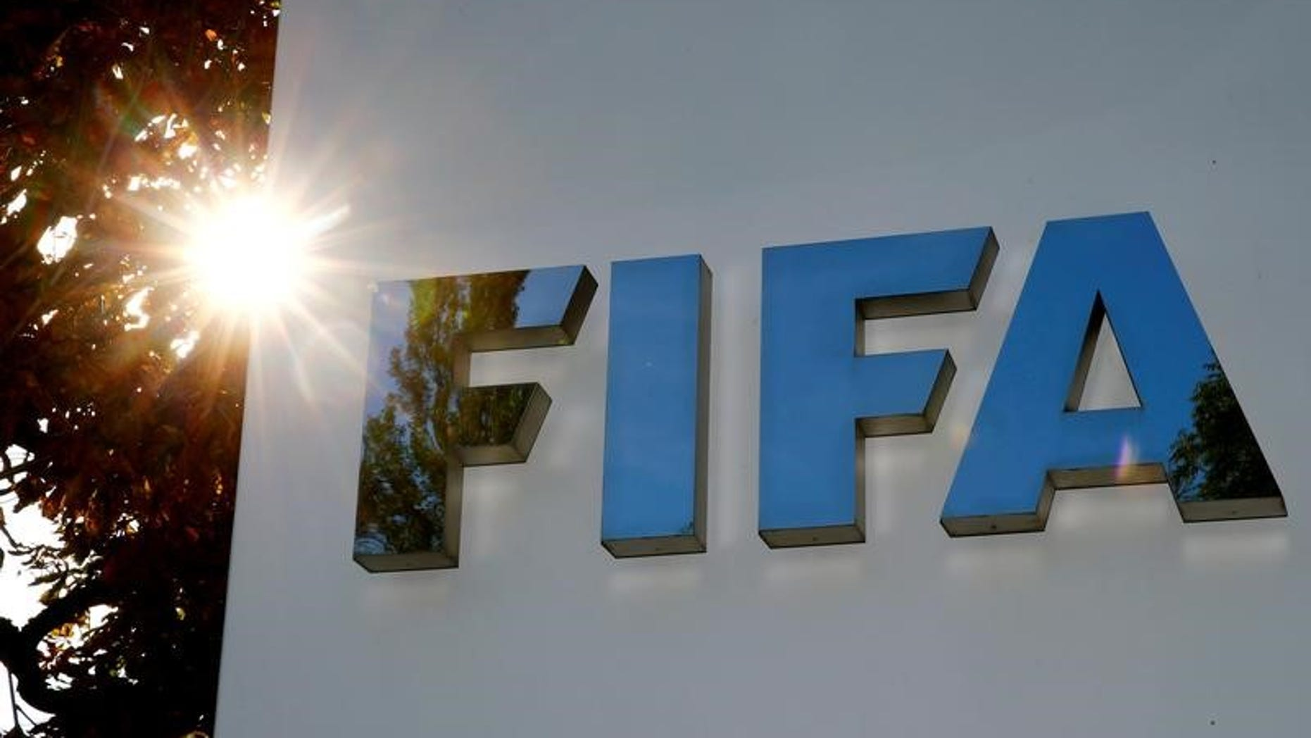 The logo of FIFA is seen in front of its headquarters in Zurich, Switzerland September 26, 2017. REUTERS/Arnd Wiegmann