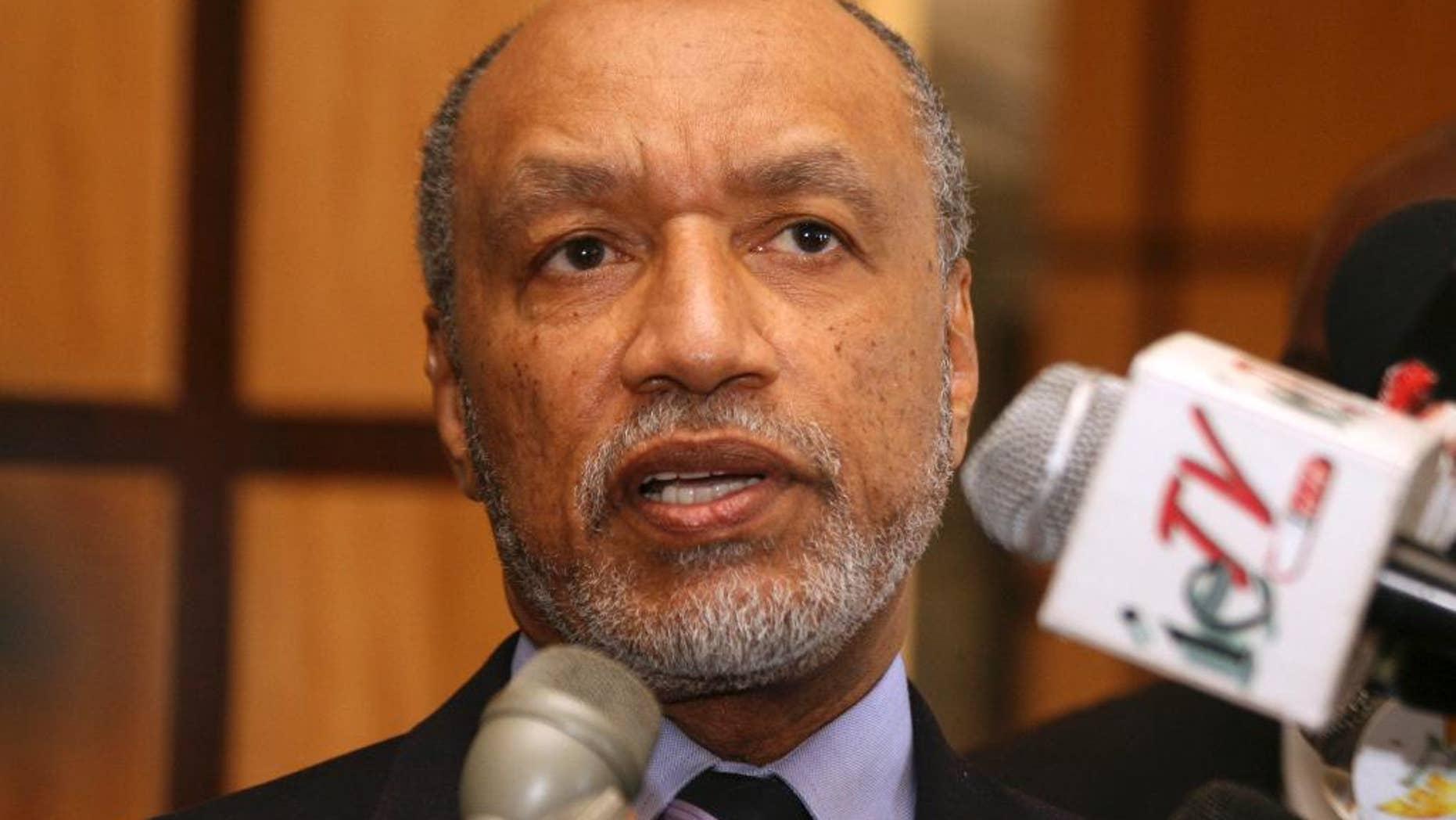 May 10, 2011: This photo shows former FIFA Vice President  Mohamed Bin Hammam (AP Photo/Shirley Bahadur, File)