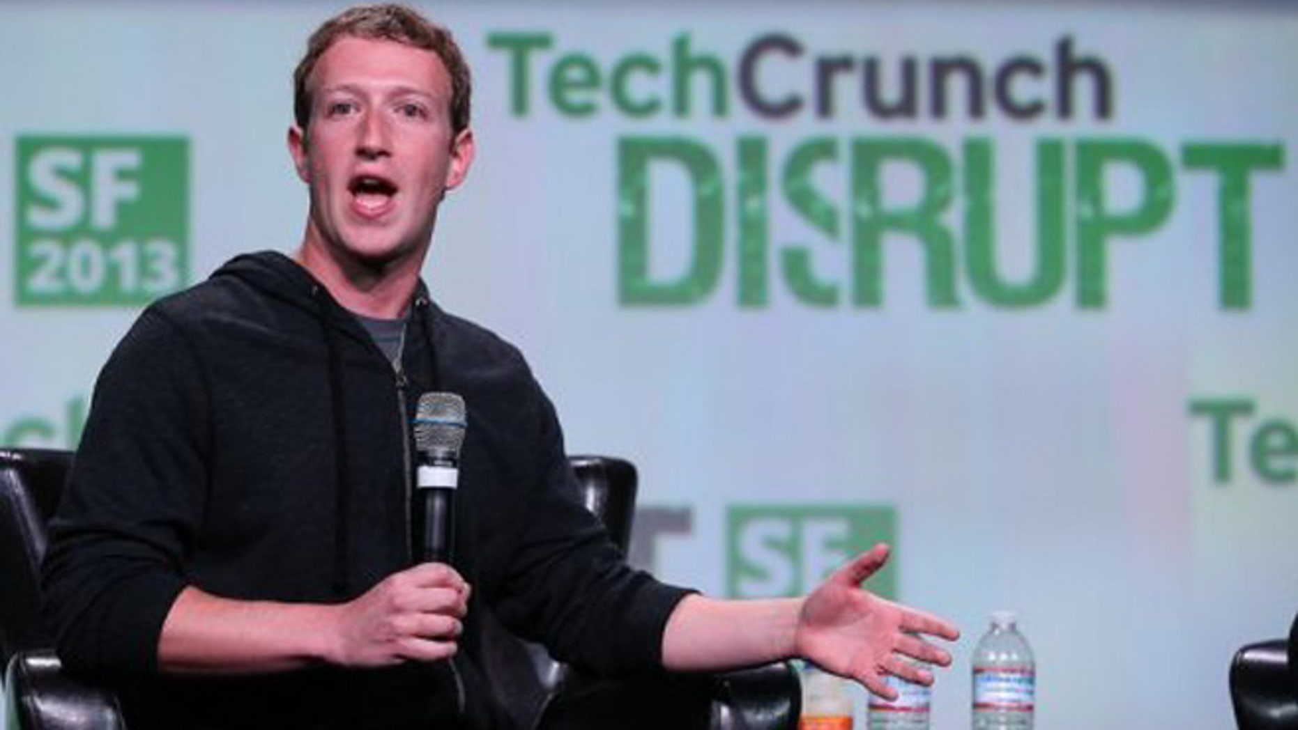 Sept. 11, 2013: Facebook founder and CEO Mark Zuckerberg speaks during the 2013 TechCrunch Disrupt conference.