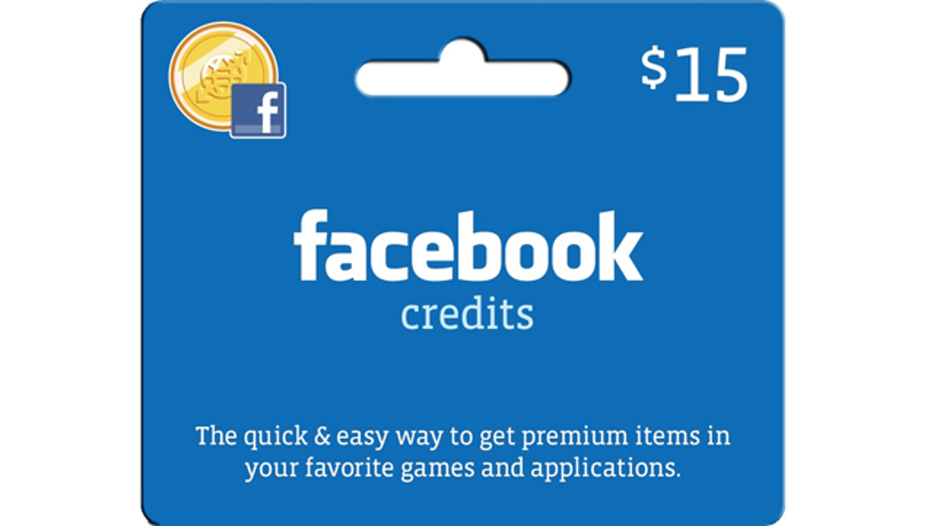 """Target stores will be the first retailer of """"Facebook Credits,"""" virtual currency for goods and services at the social network. The $15 Facebook Credits gift card was created exclusively for Target."""