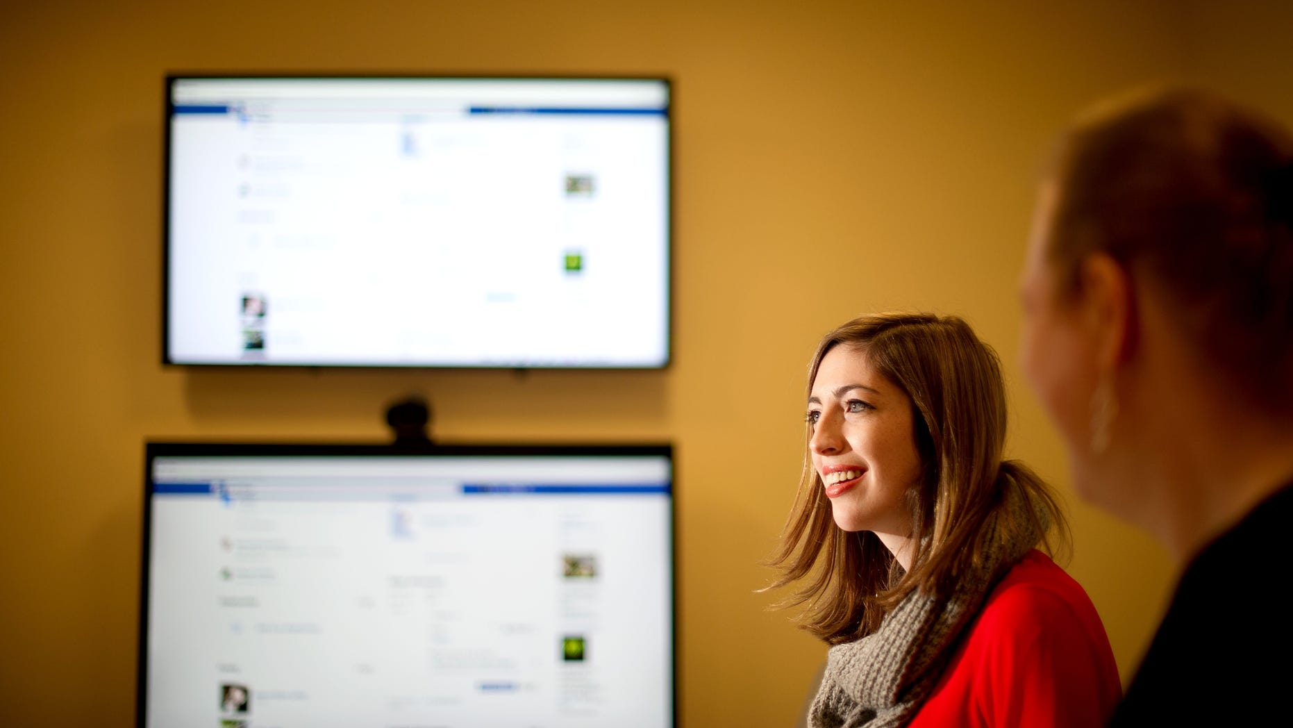 In this Wednesday, Feb. 12, 2014, photo, Facebook product manager Lexi Ross discusses expanded options for gender identification at her company's Menlo Park, Calif., headquarters. Facebook announced Thursday it is adding a customizable profile option with about 50 different terms people can use to identify their gender. (AP)