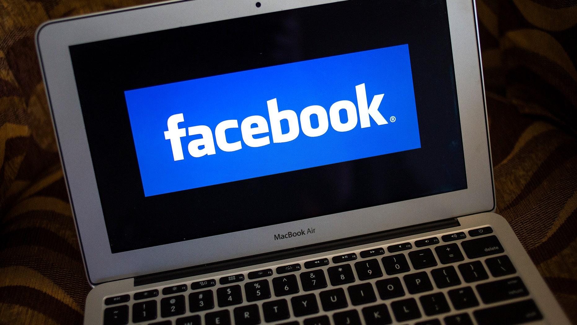 A portrait of the Facebook logo.