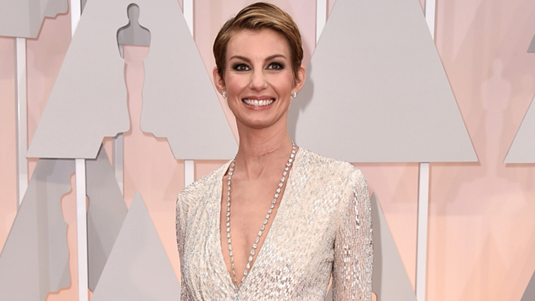 Faith Hill arrives at the Oscars on Sunday, Feb. 22, 2015, at the Dolby Theatre in Los Angeles. (Photo by Jordan Strauss/Invision/AP)