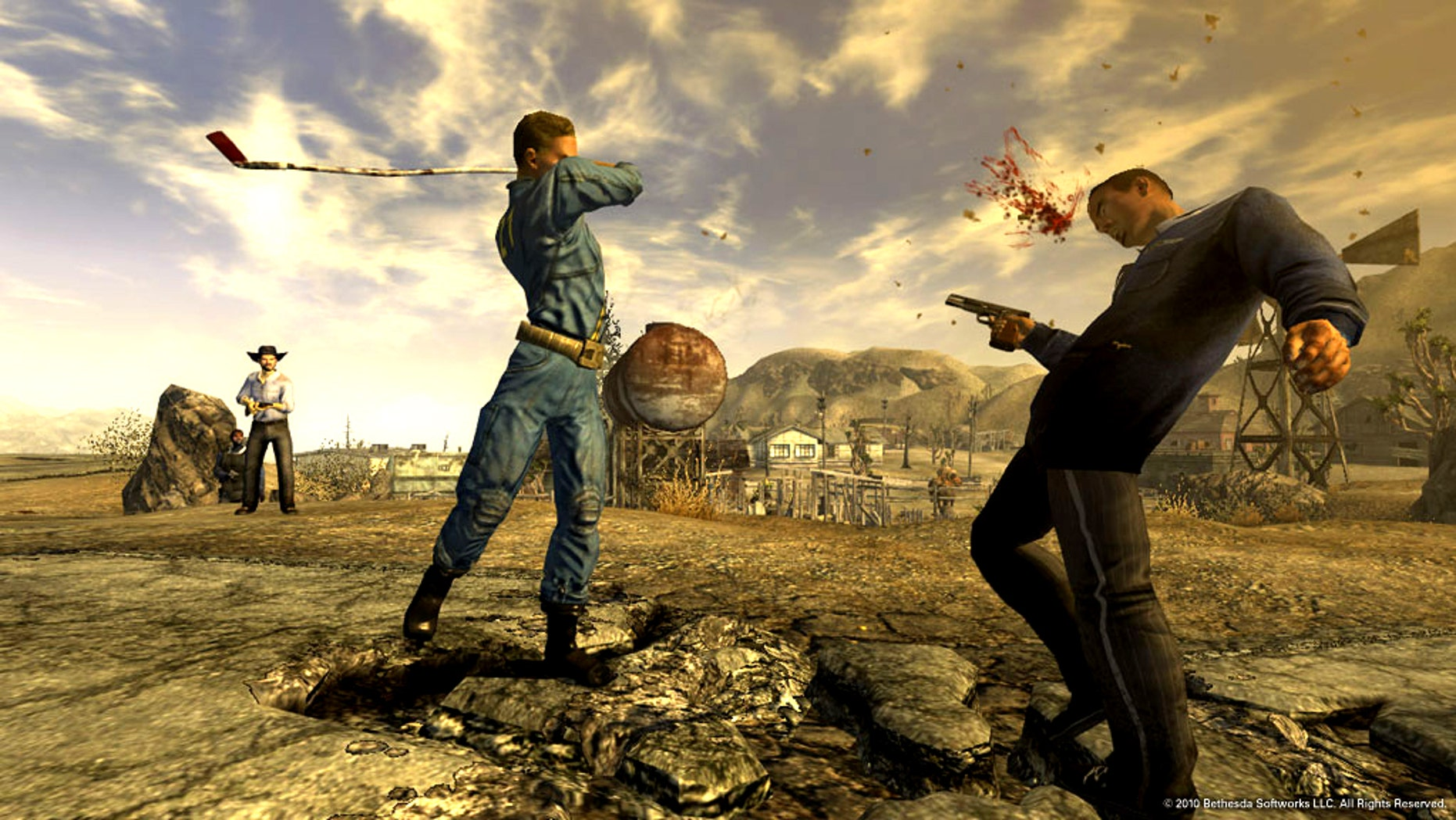 A screenshot from the game Fallout 3, which some argue paints a particularly violent picture of a post-apocalyptic Washington, D.C.